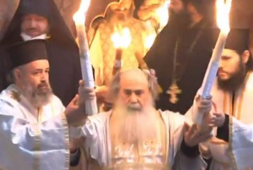 Sfânta Lumină s-a pogorât și în 2020 la Ierusalim (VIDEO)