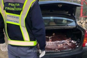 Logan burdușit cu țigări de contrabandă în Bocicoiu Mare