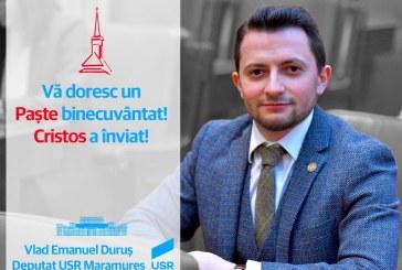 """Deputat Vlad Durus: """"Să ne bucurăm alături de familie și să rămânem solidari cu cei în nevoi"""""""