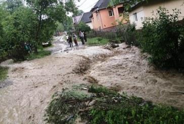 Pagube serioase în urma inundațiilor din Maramureș
