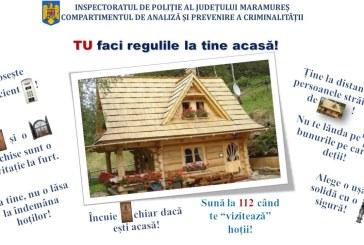 Poliția Maramureș: Tu faci regulile la tine acasă!