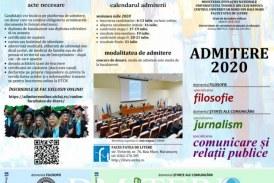 Luni este ultima zi în care se mai fac înscrieri la Facultatea de Litere din Baia Mare, la specializările: Filosofie, Jurnalism și CRP