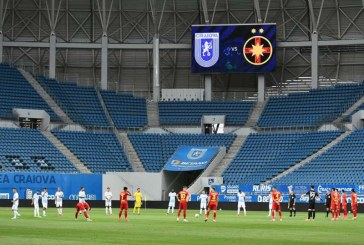 Fotbal – Liga I: Universitatea Craiova – FCSB 2-1, în play-off