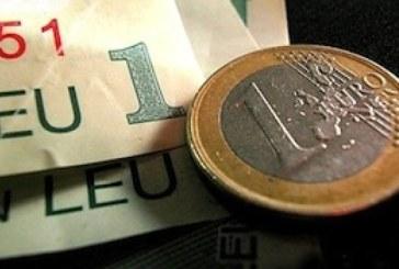 Cotațiile euro au urcat la 4,845 lei