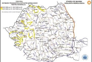 Cod galben pentru mai multe râuri. Printre acestea se numără și Vişeu, Iza, Tur și Someş