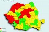 Hartă: Județele în care se înregistrează un trend crescător de infectări cu COVID-19