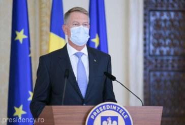 Preşedintele Klaus Iohannis a avut miercuri un mesaj public pentru PNL şi USR