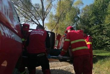 Salvamontiștii au intervenit la Moisei pentru a ajuta un bărbat accidentat