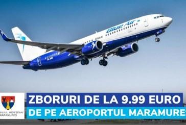 """Gabriel Zetea, președintele Consiliului Județean Maramureș: """"Curse low-cost cu Blue Air, din 13 septembrie, pe ruta București – Baia Mare și retur"""""""
