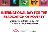 Ziua internaţională pentru eradicarea sărăciei este marcată în fiecare an în data de 17 octombrie