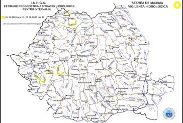 Avertizare hidrologică pentru râurile Tur, Lăpuş, Mureş, Timiş și Bârzava