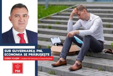 """Sorin Vlașin (PSD): """"Fantasma revenirii economice în V a lui Cîțu este de fapt o gravă prăbușire"""""""