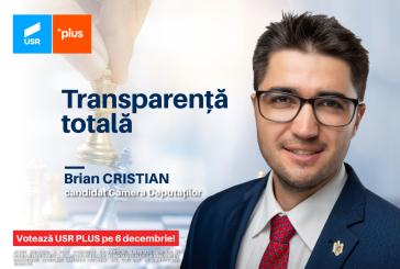 """OBIECTIV – Brian Cristian (USR PLUS): """"Transparență totală în instituțiile publice"""""""