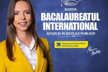Mara Mareș, candidat PNL București pentru Camera Deputaților: Cum ar fi ca școlile publice și private să predea după modelul Bacalaureatului Internațional?