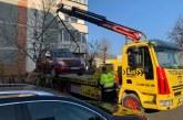 Alte cinci maișini abandonate au ridicate de polițiștii locali din Baia Mare