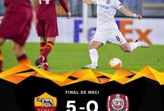 Fotbal: CFR Cluj, surclasată de AS Roma cu 5-0, în Europa League