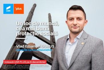 """Vlad Emanuel Duruș (USR PLUS): """"Actuala lege a venitului minim garantat descurajează munca"""""""