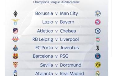 Tragerea la sorți pentru optimile Ligii Campionilor 2020 – 2021