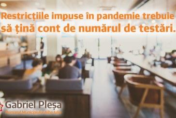 Primarul municipiului Alba Iulia, Gabriel Pleşa: Premiem cu multă relaxare judeţele care nu testează populaţia