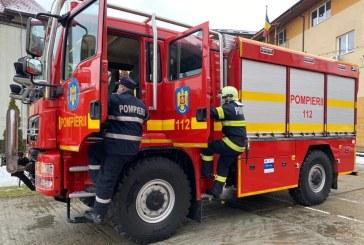 Pompierii militari din Borșa au primit o autospecială nouă pentru incendii de pădure