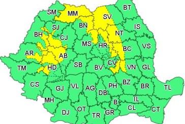 La mijloc de martie: Cod galben de ninsori şi viscol în Maramureș