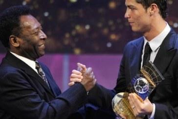 Cristiano Ronaldo, felicitat de Pele pentru că a devenit cel mai bun marcator din istoria fotbalului