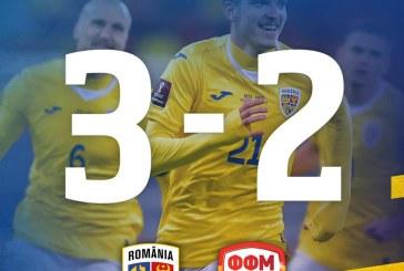 Fotbal: România a debutat cu o victorie în preliminariile CM 2022, 3-2 cu Macedonia de Nord