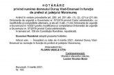 Oficial: Vlad Emanuel Duruș noul prefect al județului Maramureș