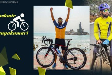 Un ciclist a străbătut India de la nord la sud în 8 zile şi o oră pentru a stabili un nou record mondial Guinness