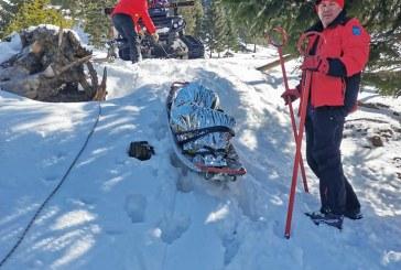 BORȘA – Bărbat înghețat salvat de salvamontiști din zona Puzdrele