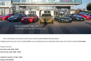 BAIA MARE – Cele mai noi modele BMW se pot testa în 3 și 4 iunie