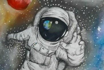 INEDIT – Desenul unei eleve din Tăuții Măgherăuș, pe costumul unui astronaut