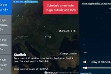 VIDEO – Sateliții Starlink, vizibili de pe cerul Maramureșului