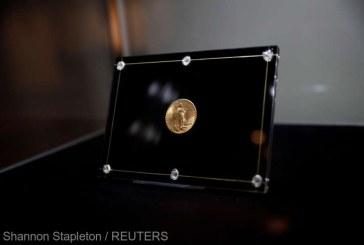 O monedă americană din aur, vândută la licitaţie pentru suma record de 18,9 milioane de dolari