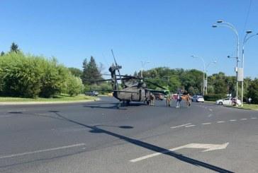 INCIDENT AVIATIC – Un elicopter american a distrus doi stâlpi de curent în centrul Bucureștiului