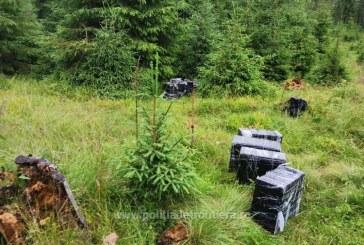 Mașină de teren și colete cu țigări de contrabandă abandonate în Borșa