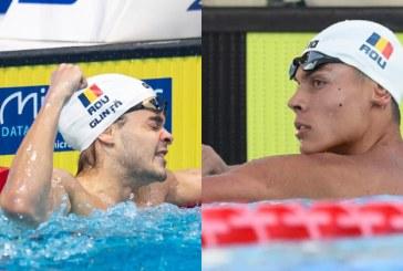 JO 2020 – Înot: David Popovici şi Robert Glinţă, calificaţi în semifinale la 200 m liber, respectiv 100 m spate