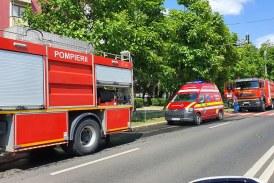 Incendiu într-o garsonieră din Baia Mare (FOTO)