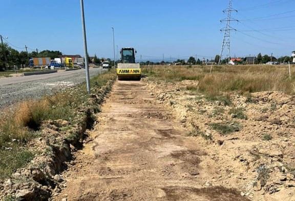 Au început lucrările la pista de biciclete pe traseul Baia Mare – Baia Sprie