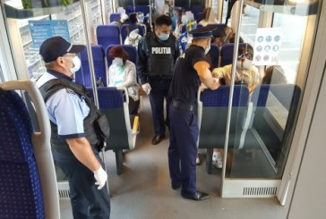 ÎN TRENURI – Aproape 12.000 de călători frauduloși depistați de polițiști în 6 luni