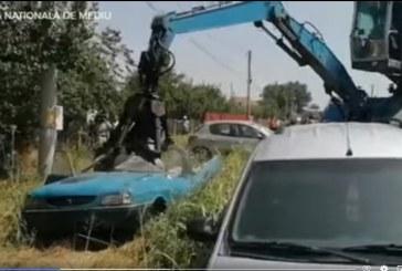 MAȘINI DEZMEMBRĂRI – Garda de Mediu confiscă 70 de rable parcate pe domeniul public