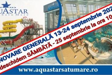 Renovare generala la sfârșit de sezon la Aquastar Satu Mare